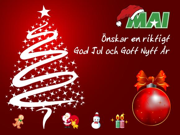 God Jul önskar MAI
