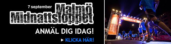 Anmäl dig till Midnattsloppet 7 sep 2013 i Malmö