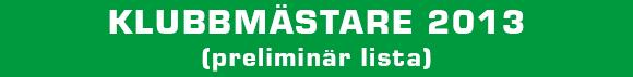 klubbmästare 2013