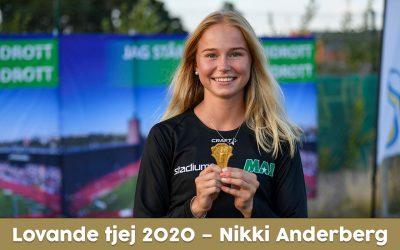 Lovande tjej 2020 – Nikki Anderberg